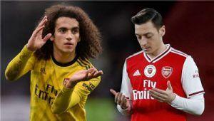 Mesut Ozil, Matteo Guendouzi Is In Danger Of Being Side-lined From Arsenal